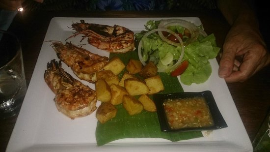 Luna Lounge Thong Nai Pan Noi: King prawns