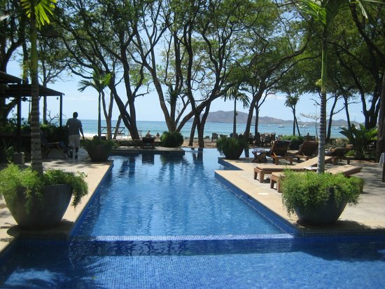 Langosta Beach Club : Infinity pool with beach behind it
