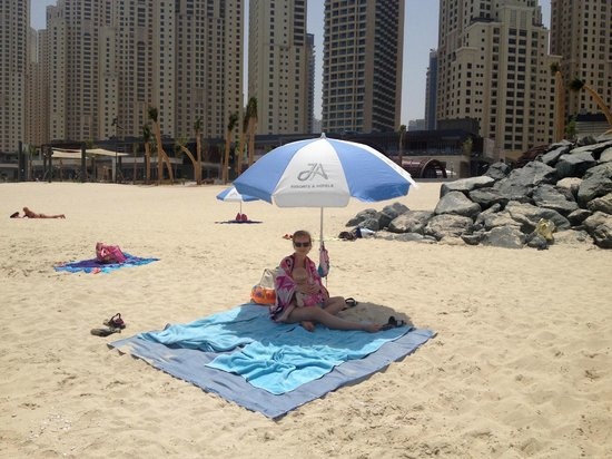 JA Ocean View Hotel: The nice public beach