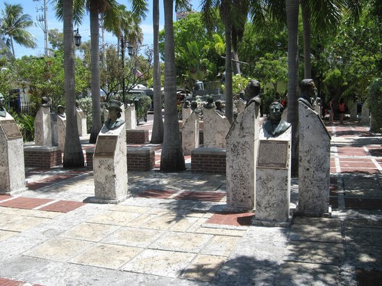 Memorial Sculpture Garden: Sculpture busts of notable residents