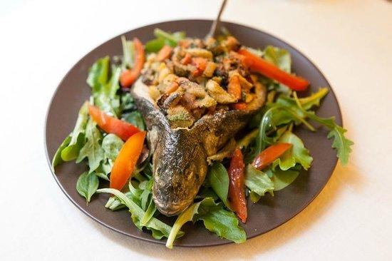 officina di cucina la spigola con verdure al groppo