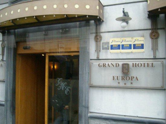 Grand Hotel Europa: Fachada
