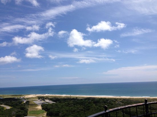 Cape Hatteras Lighthouse: One of the amazing views from the top. The path is where they moved the lighthouse from its' old