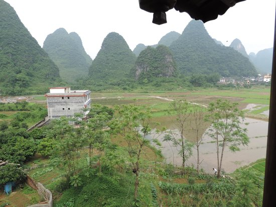 Yangshuo Tea Cozy: View from the 5th floor balcony