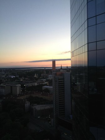 Swissotel Tallinn: Taken at 10:45pm! Tallinn sees long days in the summer months