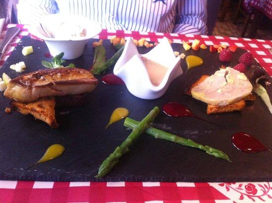 Chez Mamie Lise : la déclinaison autour du foie gras ... délicieux !!