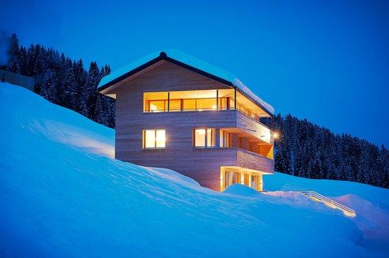Schneeglöckle Appartements: Aussenansicht Winter - direkt an der Skipiste
