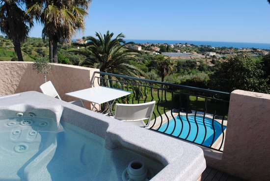 Villa Antoline: Vue terrasse suite Pleinciel