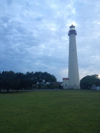 Looking up at Cape May Lighthouse
