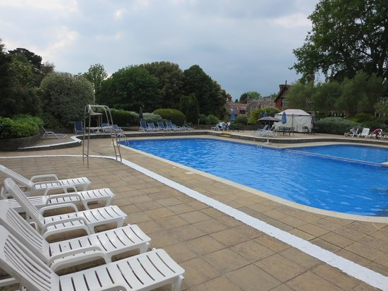 Outdoor pool picture of macdonald elmers court hotel - Uk hotels with outdoor swimming pools ...