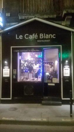 LE CAFE BLANC : devanture restaurant