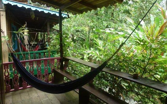 Playa Chiquita Lodge: Auf der Terrasse