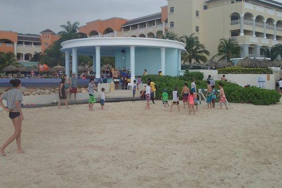 Iberostar Rose Hall Suites: Kids' Soccer Game on the Beach