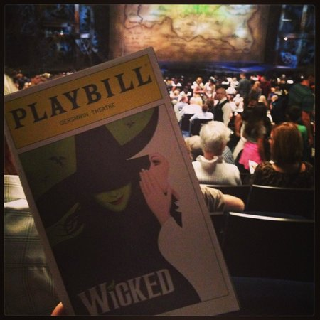 Wicked: View from Orch seat Row X seat 5 & 7