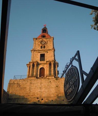 Mama Sofia's: clock tower