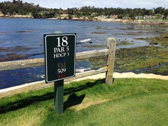 Pebble Beach Golf Links: 18th Tee Box