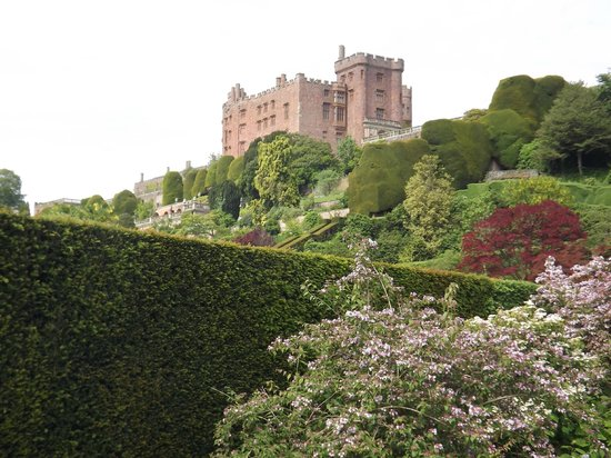 Powis Castle and Garden: The Castle from the bottom of the garden