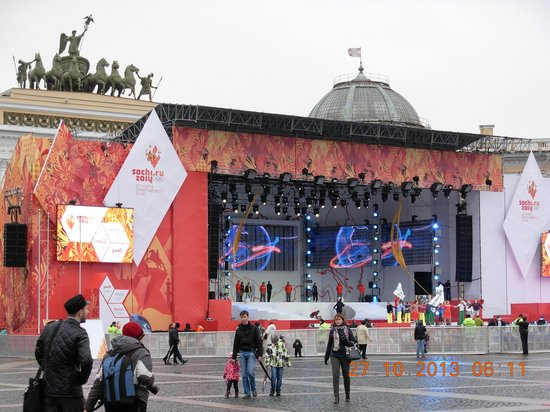 Insider Tour: The square is preparing to welcome the Olympics torch.