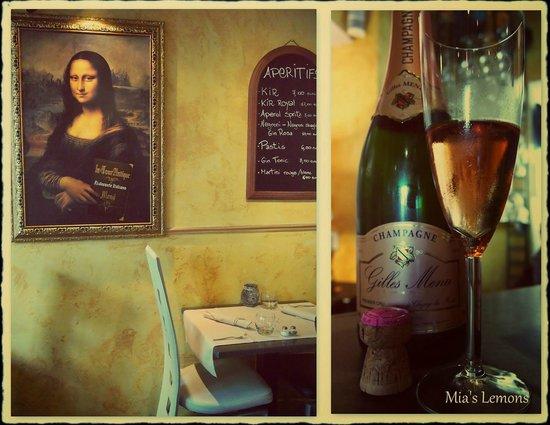 La Tour Antique : Monna lisa et champagne...