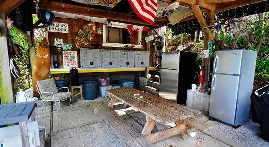 Virgin Islands Campground : Communal kitchen/pavilion