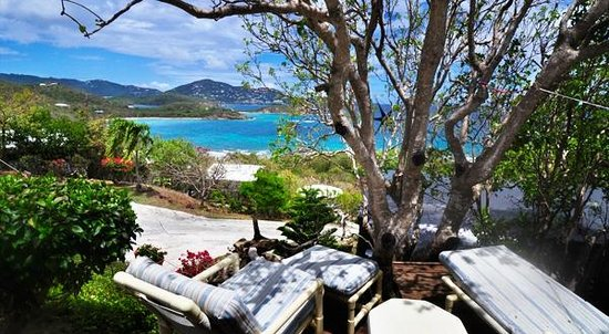 Virgin Islands Campground: View of Limestone Bay from one of the suites.