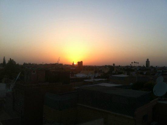 Riad Aubrac : Vue de la terrasse