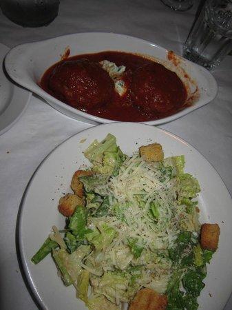 la Cascata: Cesear Salad & Rissoto Balls for Appitizers