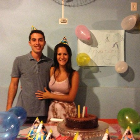 Pousada Corona De Pedra: Festinha de aniversário organizada para o meu namorado!