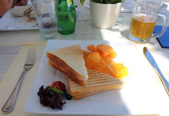 White Restaurant Bar: Bruchetta ham