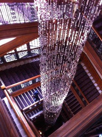 Grand Central Hotel: stunning chandelier