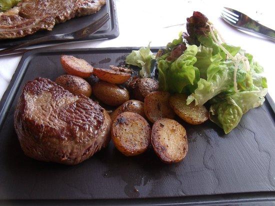 Restaurant le Belvedere: Coeur de rumsteack