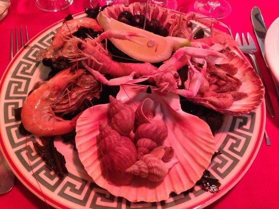 L'Ancrage : Entrée - assiette de fruits de mer