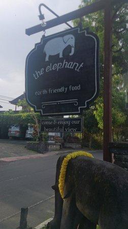 The Elephant Restaurant & Bar: sign on the street