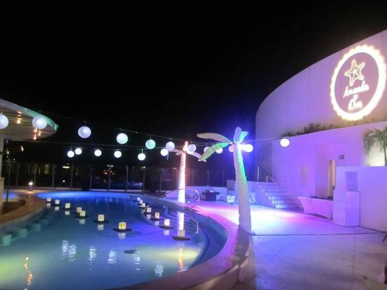 Beach Palace Sky Terrace Wedding Reception Decor
