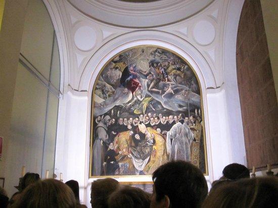 Iglesia de Santo Tome : Toledo Iglesia Santo Tome - El Entierro