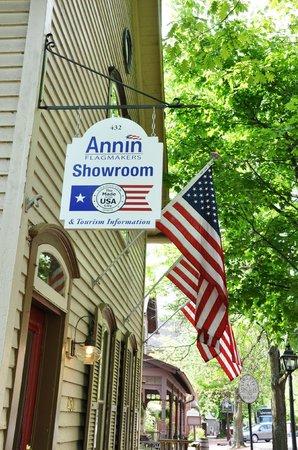 Coshocton Convention and Visitor Bureau: Coshocton Visitors Bureau & Annin Flagmaker Showroom in Roscoe Village