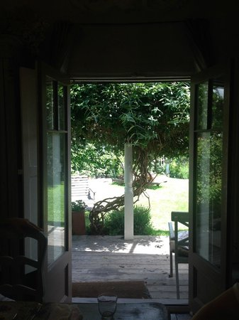 The Linen Shed: view from dining room