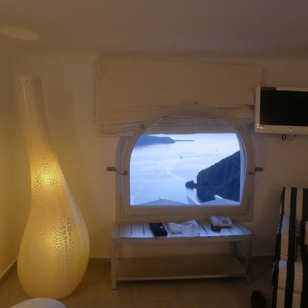 Belvedere Santorini: view from bedroom upstairs