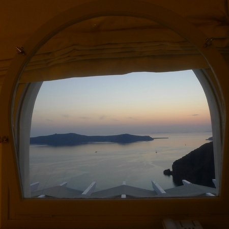 Belvedere Santorini: view from our upstairs room