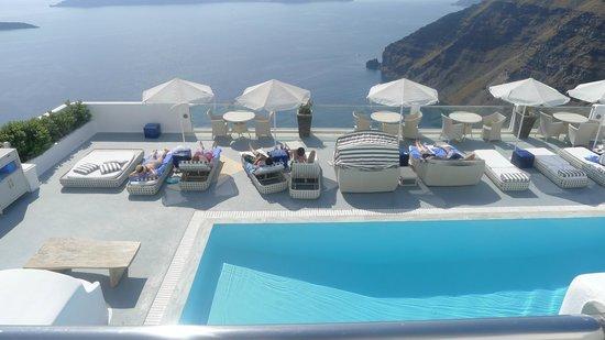 Belvedere Santorini: view from reception