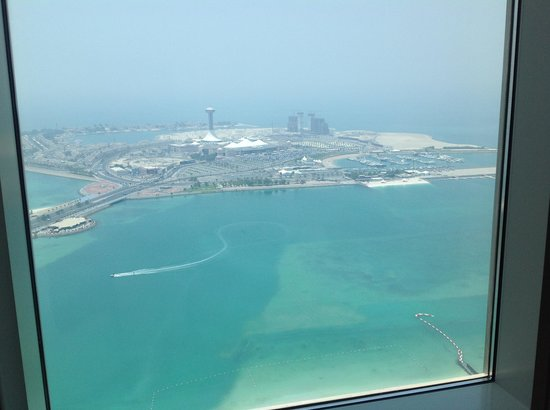 The St. Regis Abu Dhabi: View from our room on the 42nd floor