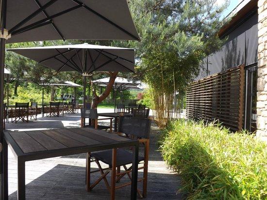 Les Jardins Sothys: terrasse