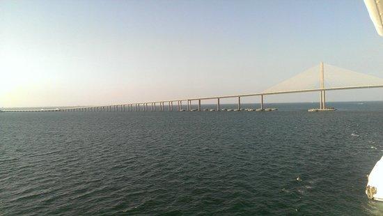 Sunshine Skyway Bridge from Ship