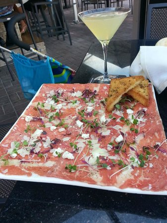 Marco Prime Steaks & Seafood: Carpacchio - delish!