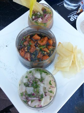 Marco Prime Steaks & Seafood: Ceviche sampler (you pick 3 of 5)