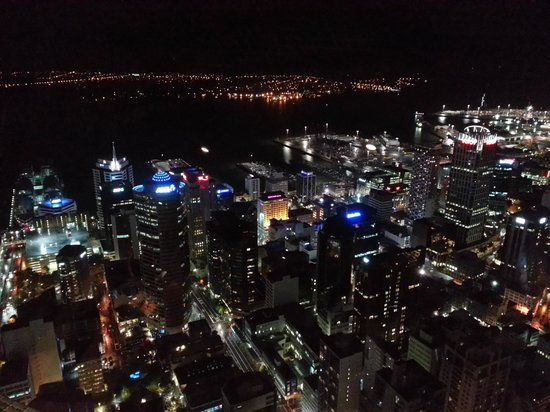Sky Tower : Night view from Skydeck at the Skytower