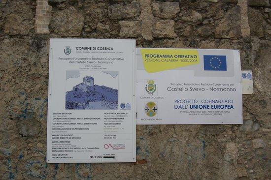 Castello Normanno-Svevo di Cosenza: lavori in corso