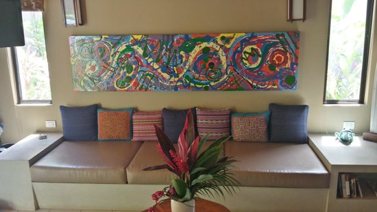 Alma del Pacifico Beach Hotel & Spa : Couch of Garden Bungalow