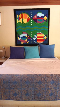 Alma del Pacifico Beach Hotel & Spa : Bed of Garden Bungalow