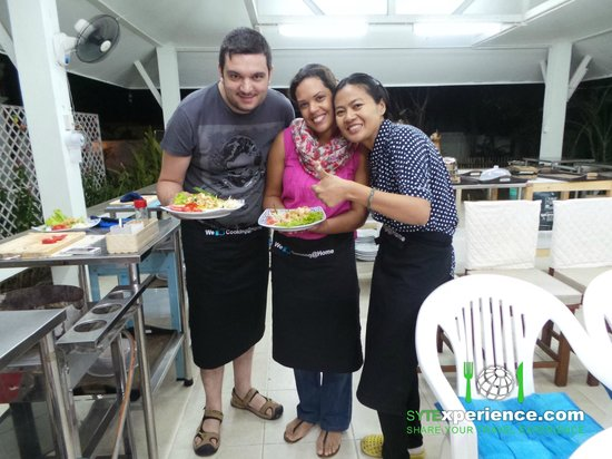 Cooking at Home Thai Culinary School: Cooking GOONG (Shrimp) PAD THAI with Tak, our cooking instructo